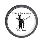 Great Dane Personalizable I Bark For A Cure Wall C