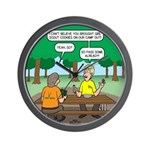 KNOTS Camping Cookies Wall Clock