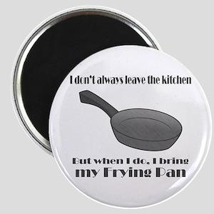 Frying Pan Kitchen Joke Magnet