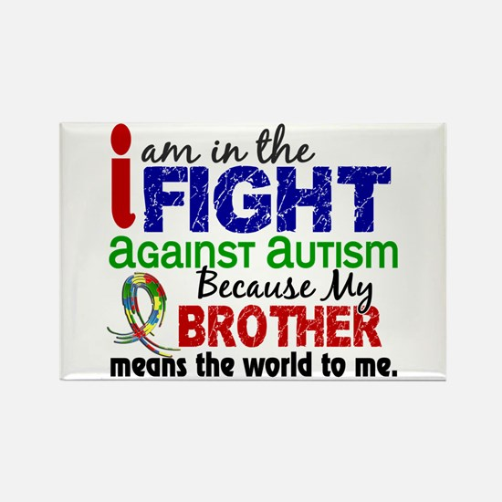 In The Fight 2 Autism Rectangle Magnet