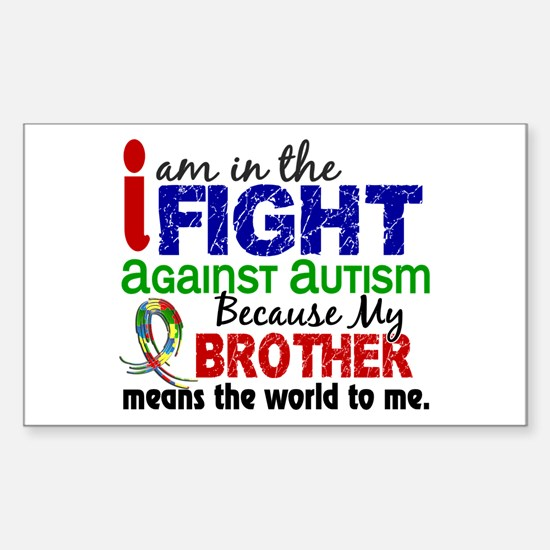 In The Fight 2 Autism Sticker (Rectangle)