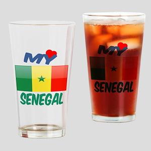 My Love Senegal Drinking Glass