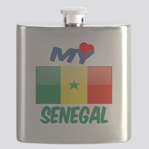 My Love Senegal Flask