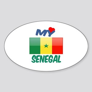 My Love Senegal Sticker (Oval)