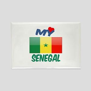 My Love Senegal Rectangle Magnet