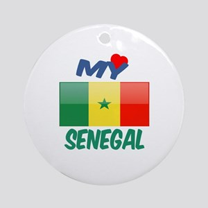 My Love Senegal Round Ornament