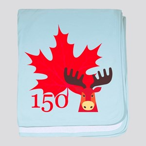 Canada 150 - Moose baby blanket