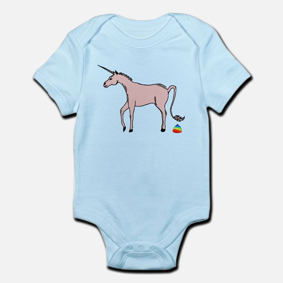Unicorns Poop Rainbows Infant Bodysuit