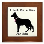 German Shepherd Personalizable I Bark For A Cure F