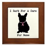 French Bulldog Personalizable I Bark For A Cure Fr