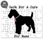 Fox Terrier Personalizable I Bark For A Cure Puzzl