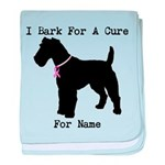 Fox Terrier Personalizable I Bark For A Cure baby