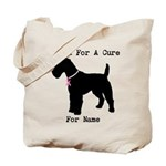 Fox Terrier Personalizable I Bark For A Cure Tote