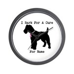 Fox Terrier Personalizable I Bark For A Cure Wall