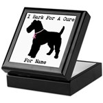 Fox Terrier Personalizable I Bark For A Cure Keeps