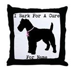Fox Terrier Personalizable I Bark For A Cure Throw
