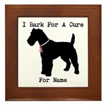 Fox Terrier Personalizable I Bark For A Cure Frame