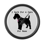 Fox Terrier Personalizable I Bark For A Cure Large