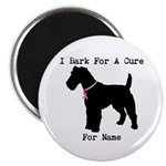 Fox Terrier Personalizable I Bark For A Cure 2.25
