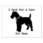 Fox Terrier Personalizable I Bark For A Cure Small