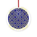 Gold Islamic Art Star Pattern Ornament (Round)