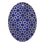 Gold Islamic Art Star Pattern Ornament (Oval)