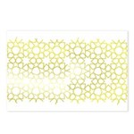Gold Islamic Art Star Pattern Postcards (Package o
