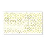 Gold Islamic Art Star Pattern 22x14 Wall Peel