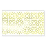 Gold Islamic Art Star Pattern Sticker (Rectangle 5