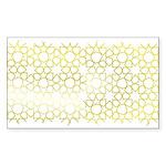 Gold Islamic Art Star Pattern Sticker (Rectangle 1