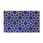 Gold Islamic Art Star Pattern Car Magnet 20 x 12