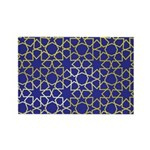 Gold Islamic Art Star Pattern Rectangle Magnet (10
