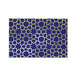 Gold Islamic Art Star Pattern Rectangle Magnet