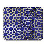 Gold Islamic Art Star Pattern Mousepad
