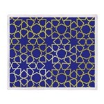 Gold Islamic Art Star Pattern Throw Blanket