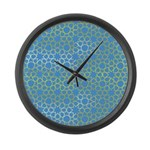 Gold Islamic Art Star Pattern Large Wall Clock