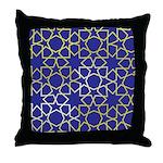 Gold Islamic Art Star Pattern Throw Pillow