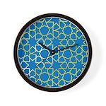 Gold Islamic Art Star Pattern Wall Clock