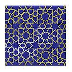 Gold Islamic Art Star Pattern Tile Coaster