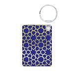 Gold Islamic Art Star Pattern Aluminum Photo Keych