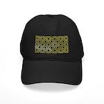 Gold Islamic Art Star Pattern Black Cap