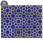 Gold Islamic Art Star Pattern Puzzle