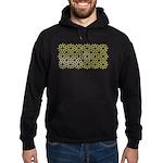 Gold Islamic Art Star Pattern Hoodie (dark)