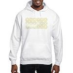 Gold Islamic Art Star Pattern Hooded Sweatshirt