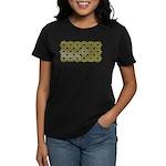 Gold Islamic Art Star Pattern Women's Dark T-Shirt