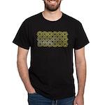 Gold Islamic Art Star Pattern Dark T-Shirt