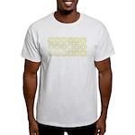 Gold Islamic Art Star Pattern Light T-Shirt