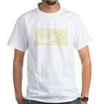 Gold Islamic Art Star Pattern White T-Shirt