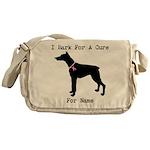 Doberman Personalizable I Bark For A Cure Messenge