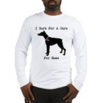 Doberman Personalizable I Bark For A Cure Long Sle